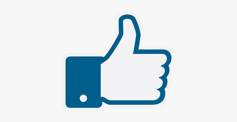 Facebook Thumbs Up Vector - Facebook, Transparent Clipart