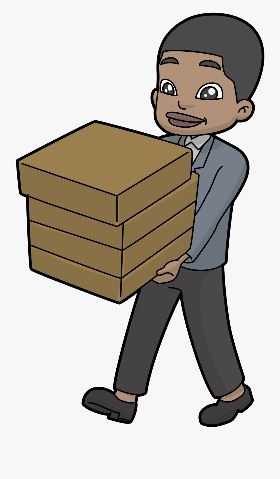 Carrying Boxes Png - Anime Guy Carrying Box, Transparent Clipart