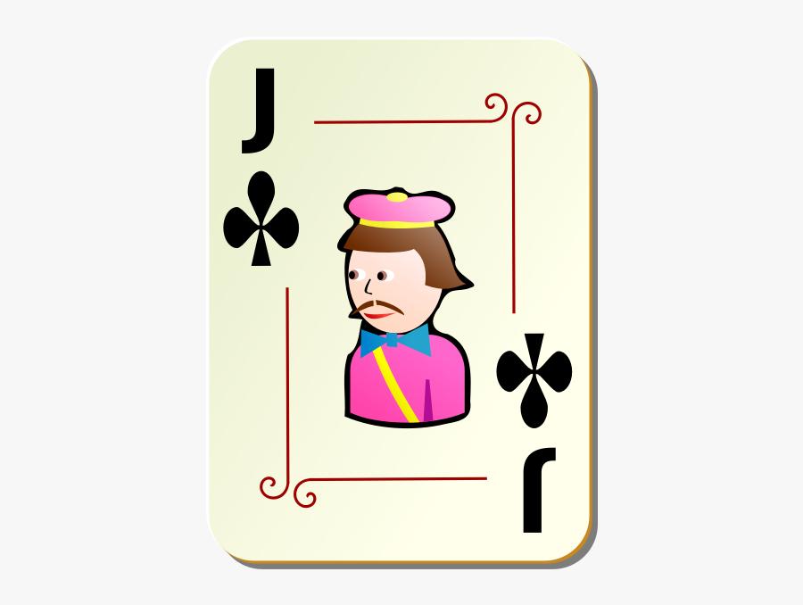 Joker Of Clubs Vector Clip Art - Jack Playing Card, Transparent Clipart
