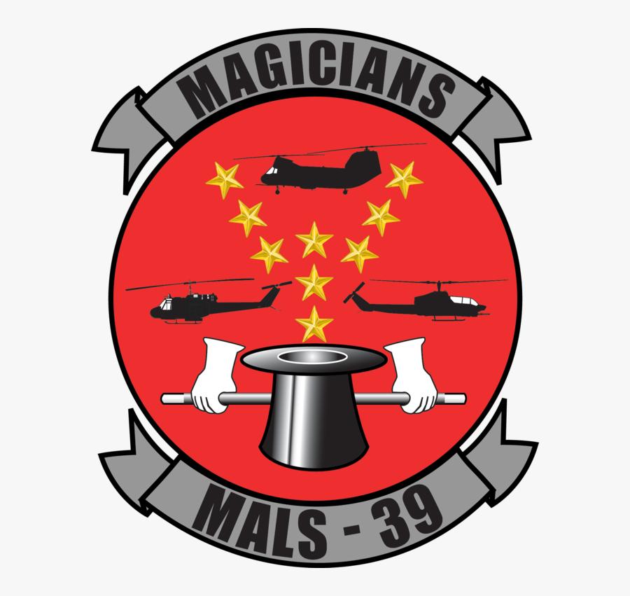Marine Aviation Logistics Squadron - Mals 39 Magicians, Transparent Clipart