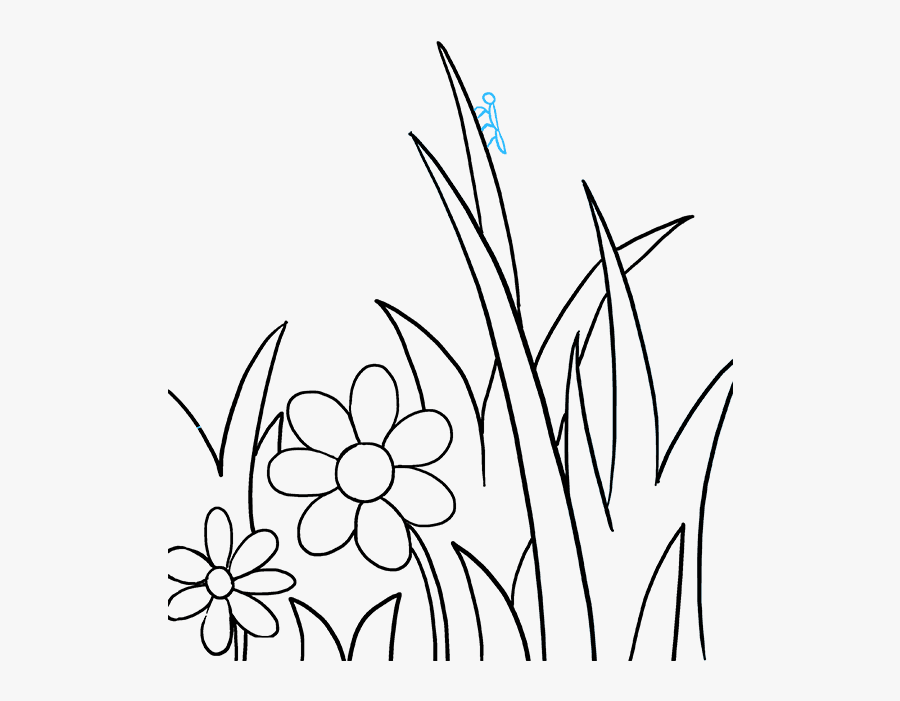 Butterfly And Flower Drawing Clipart , Png Download - Flower And Butterfly Drawing, Transparent Clipart