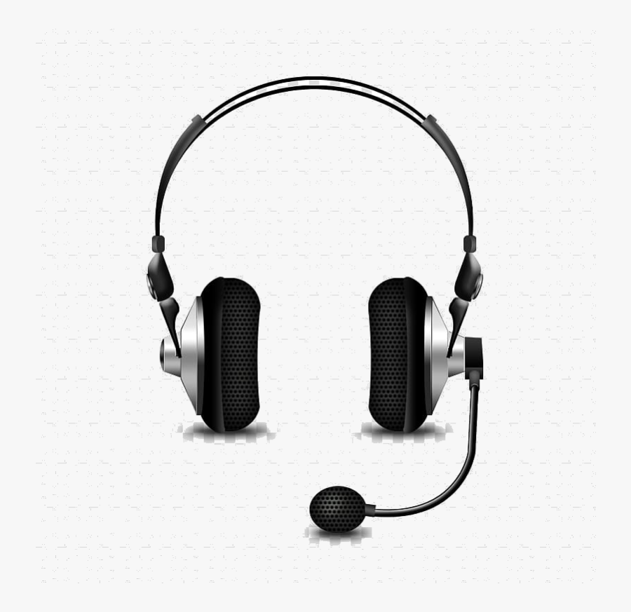 Headphones Microphone Headset Phone Connector Bluetooth - Transparent Headphone With Mic Png, Transparent Clipart