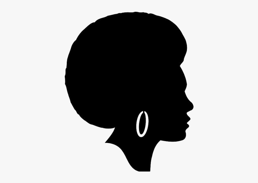 United States African American Black Afro African-american - Black Woman Head Silhouette, Transparent Clipart