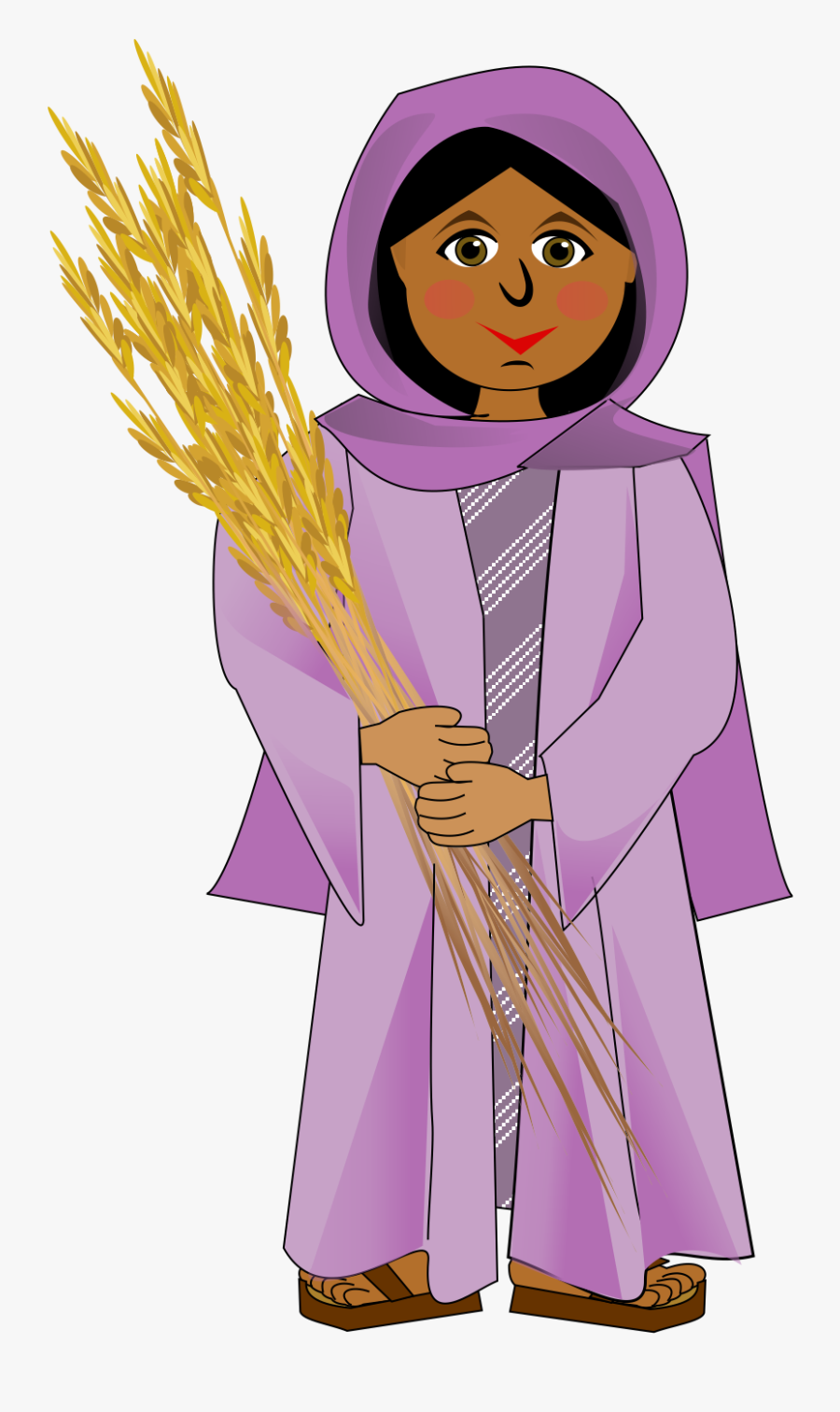 Ruth From The Bible Clipart, Transparent Clipart