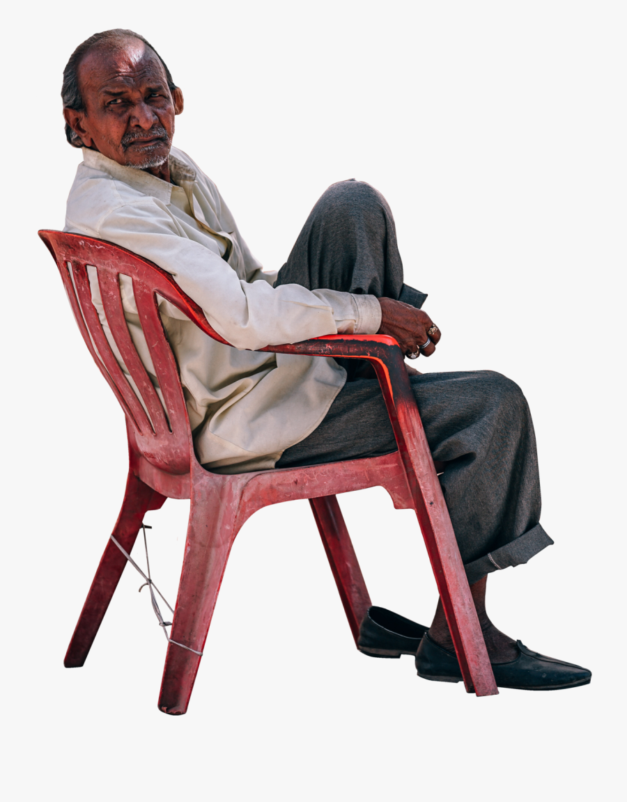 Man Sitting In Chair Clipart, Transparent Clipart