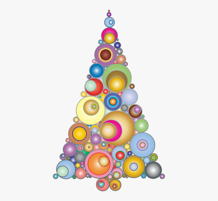 Christmas Ornament - Abstract Christmas Tree Clipart, Transparent Clipart