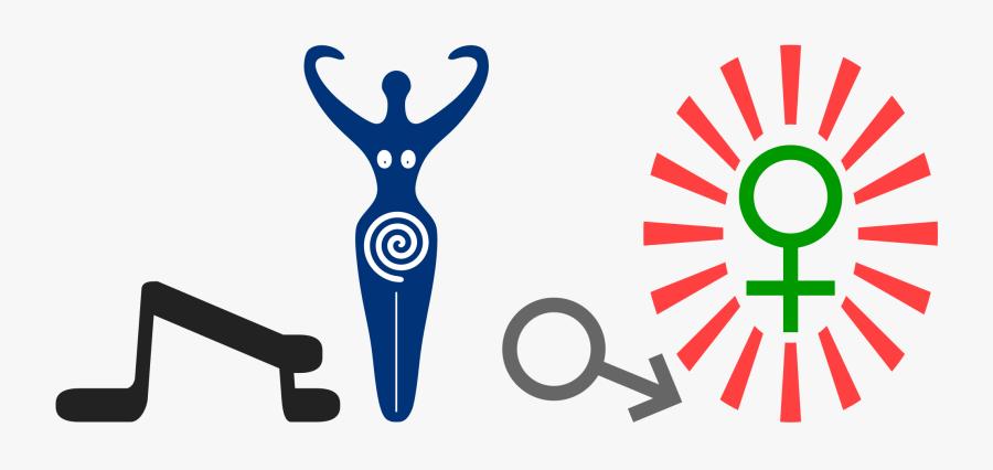 Femdom Goddess Worship Art Clipart , Png Download - Goddess Symbol, Transparent Clipart