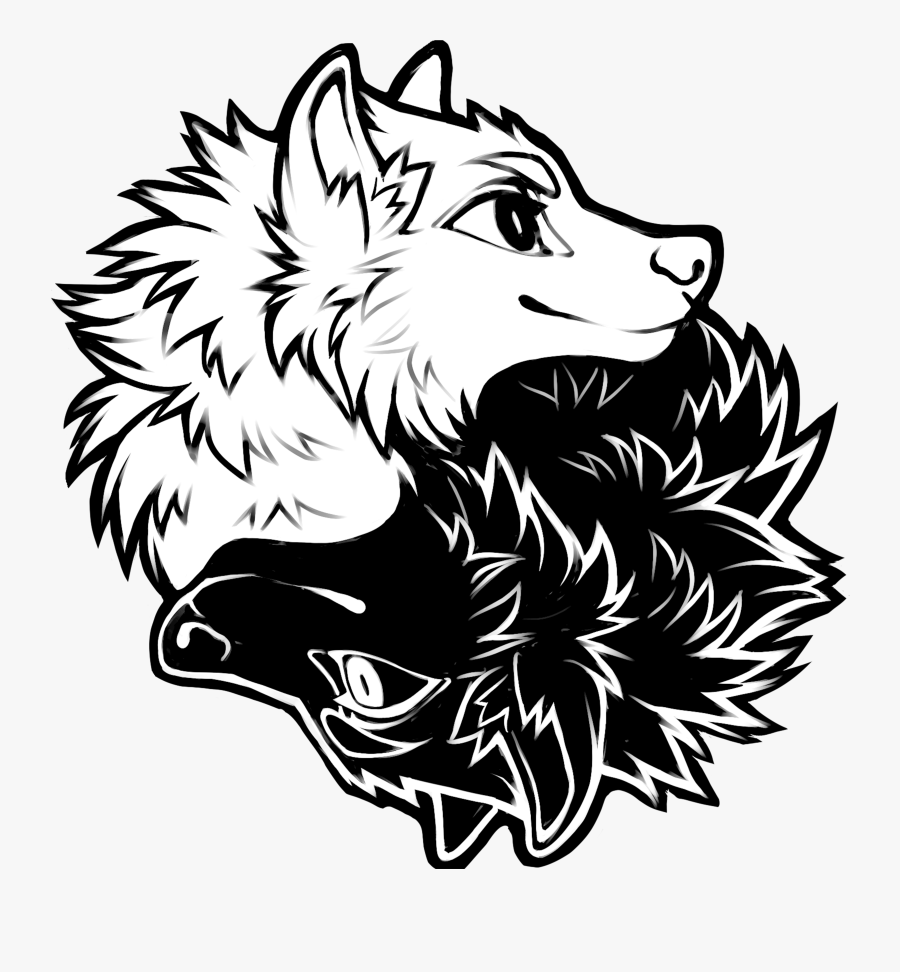 Yin And Yang Wolves, Transparent Clipart