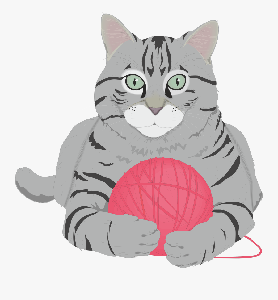 Tabby Cat Clipart Short Haired - Cat Free Clip Art, Transparent Clipart