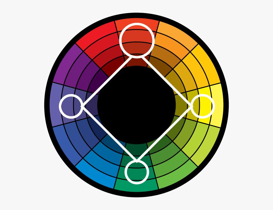 Triadic Harmony Color Wheel, Transparent Clipart