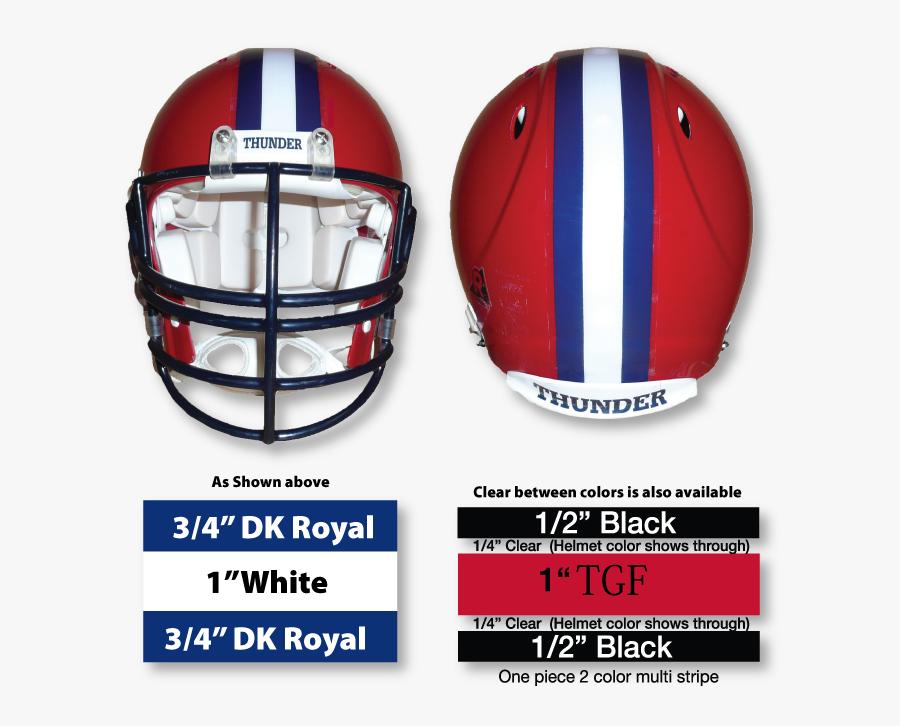 Football Helmet Stripe Decals, Transparent Clipart