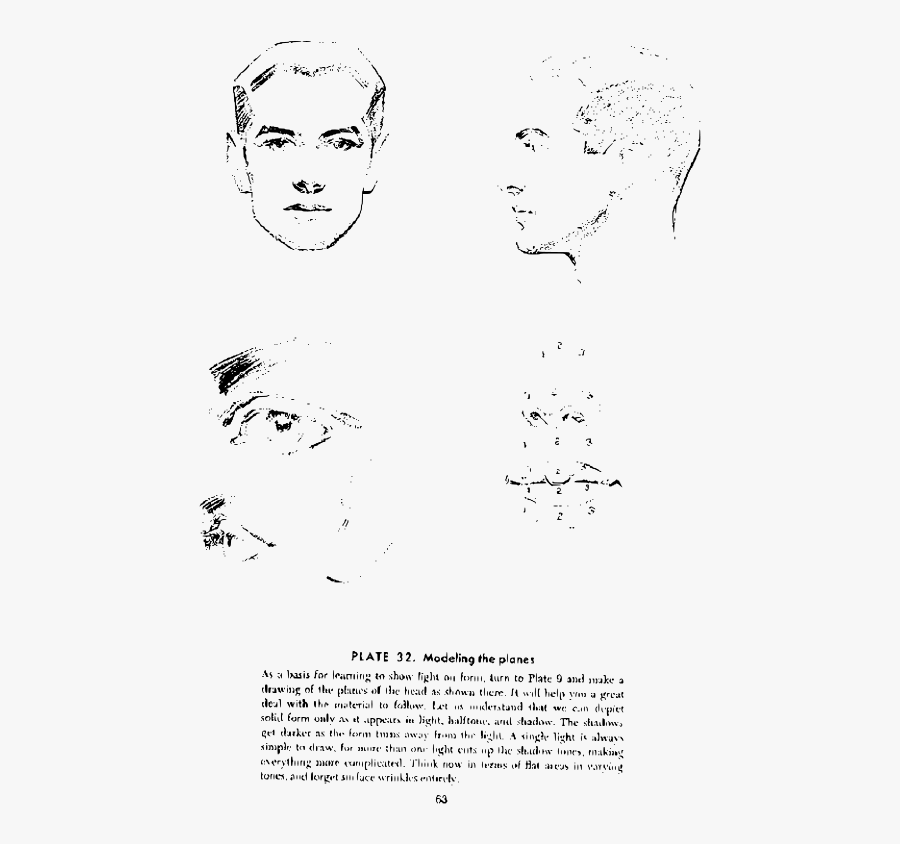 Andrew Loomis Drawing The Head And Hands 58 - Drawing, Transparent Clipart