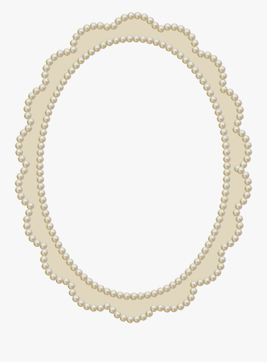 Pearl Frame Png Royalty Free Library - Pearl Photo Frame Png, Transparent Clipart