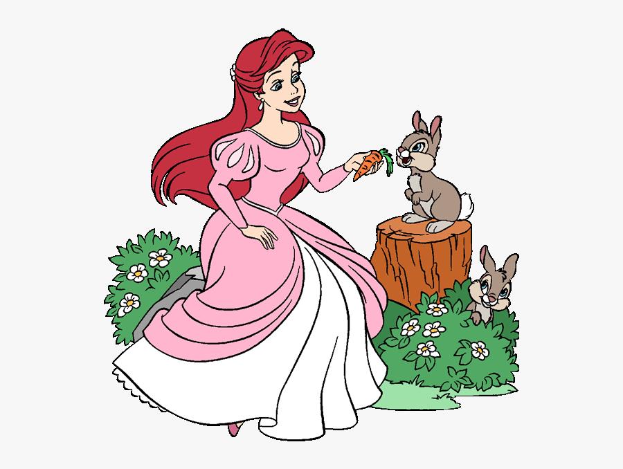 Disney Springtime Princess Clipart Ariel Pink Dress Clipart Free Transparent Clipart Clipartkey