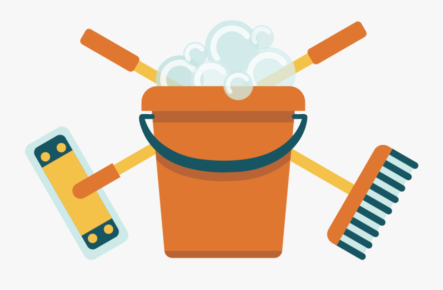 Broom Mop Bucket - Broom And Mop Cartoon, Transparent Clipart