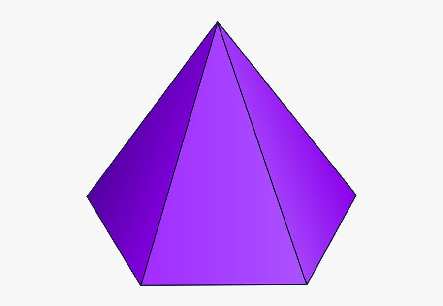 Cube Clipart 3d Cone Shape - 3d Shape Hexagonal Pyramid, Transparent Clipart