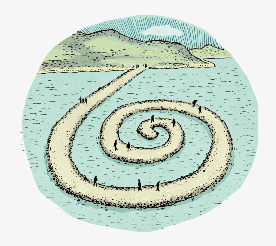 Go See The Great Salt Lake's Spiral Jetty - Illustration, Transparent Clipart