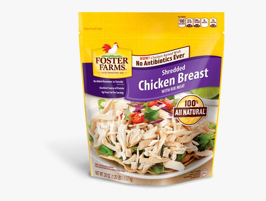 Shredded Chicken Breast - Foster Farms Frozen Orange Chicken, Transparent Clipart