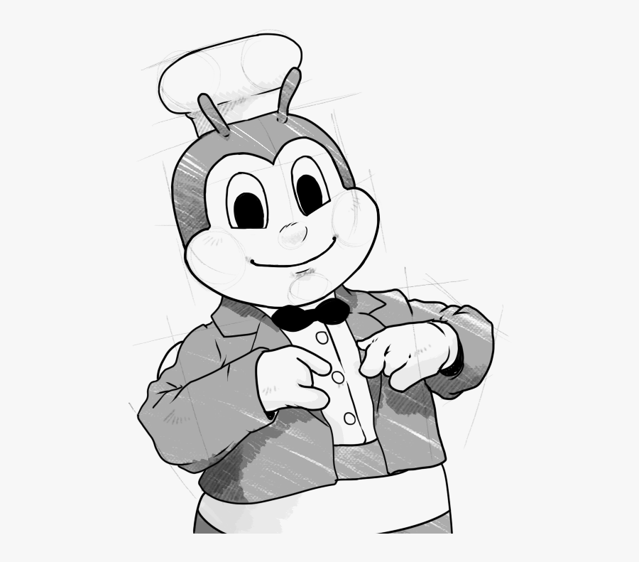 """Jollibee Logo Png -the First Years Weren""""t Easy, Especially - Jollibee Black And White, Transparent Clipart"""