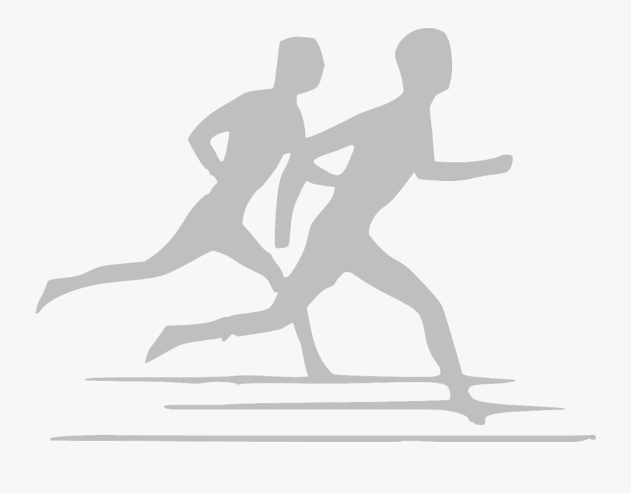 Runners Silhouette Isolated Free Photo - Athletics Clipart Black And White, Transparent Clipart