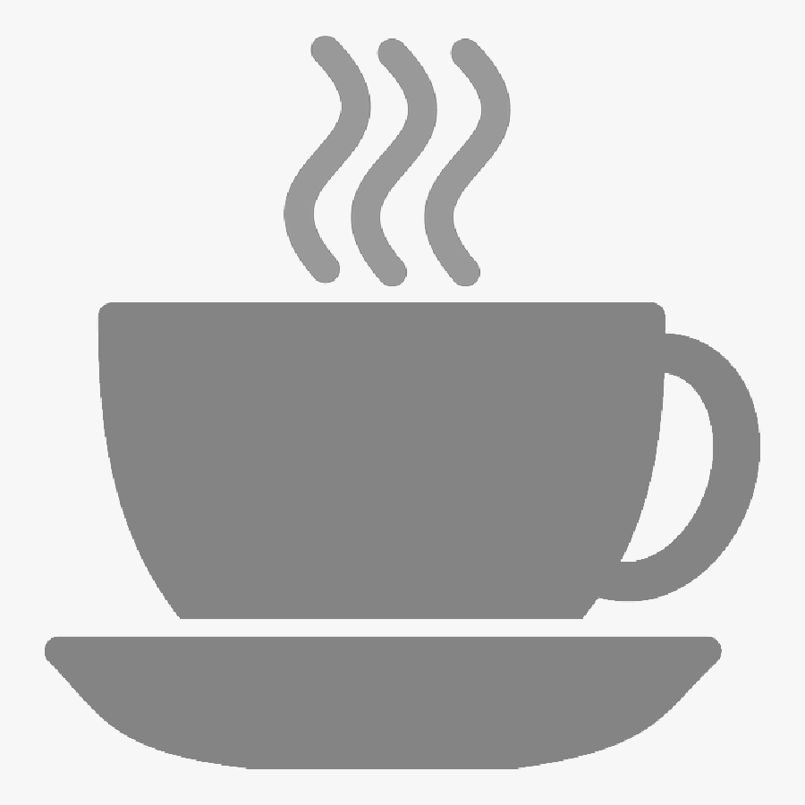 Coffee Cup Silhouette Steam Tea - White Coffee Cup Icon, Transparent Clipart