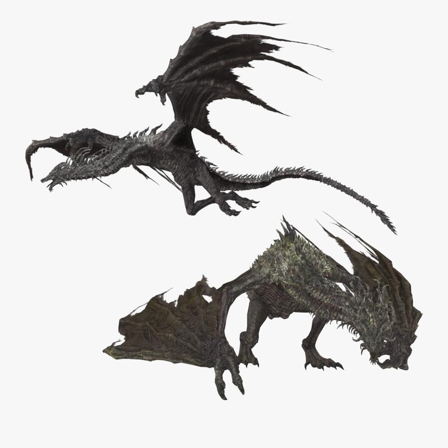 Dragon Wyvern Smaug Dark Souls The Elder Scrolls V - Dark Souls Dragon Png, Transparent Clipart