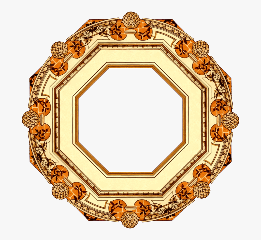 Picture Frame,circle,gold - Circle, Transparent Clipart