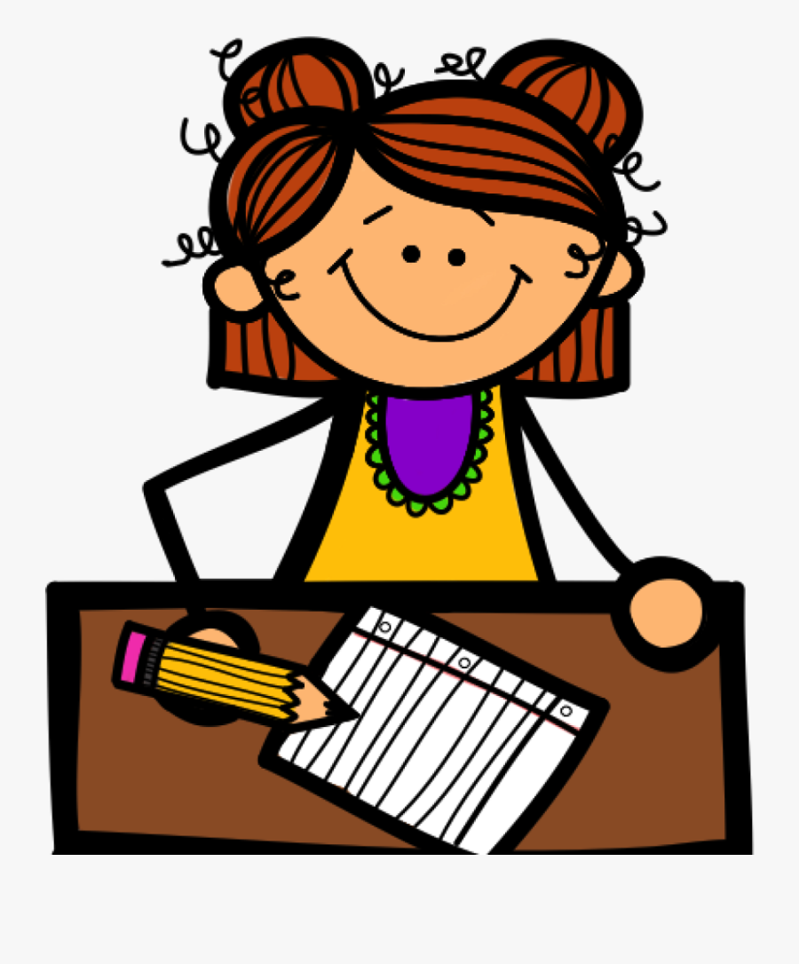 Transparent Student Clipart Png - Girl Writing Clipart, Transparent Clipart