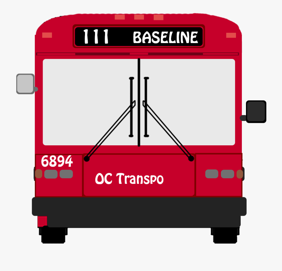 Transparent Greyhound Bus Clipart - Paper Oc Transpo Bus, Transparent Clipart