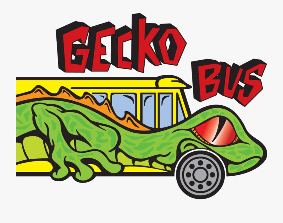 Gecko Bus Logo, Transparent Clipart