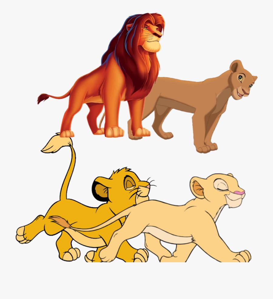 #simba And Nala Teen And Young - Simba Mufasa Lion King, Transparent Clipart