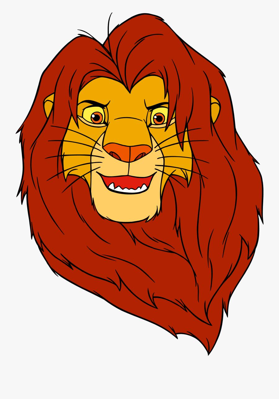 Transparent Lion King Simba Png - Cartoon Lion King Face, Transparent Clipart