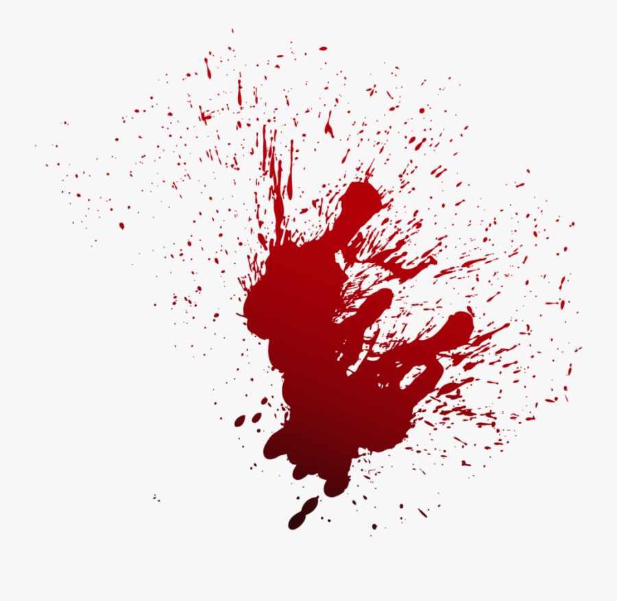 Blood Film Drawing - Blood Stain Png, Transparent Clipart
