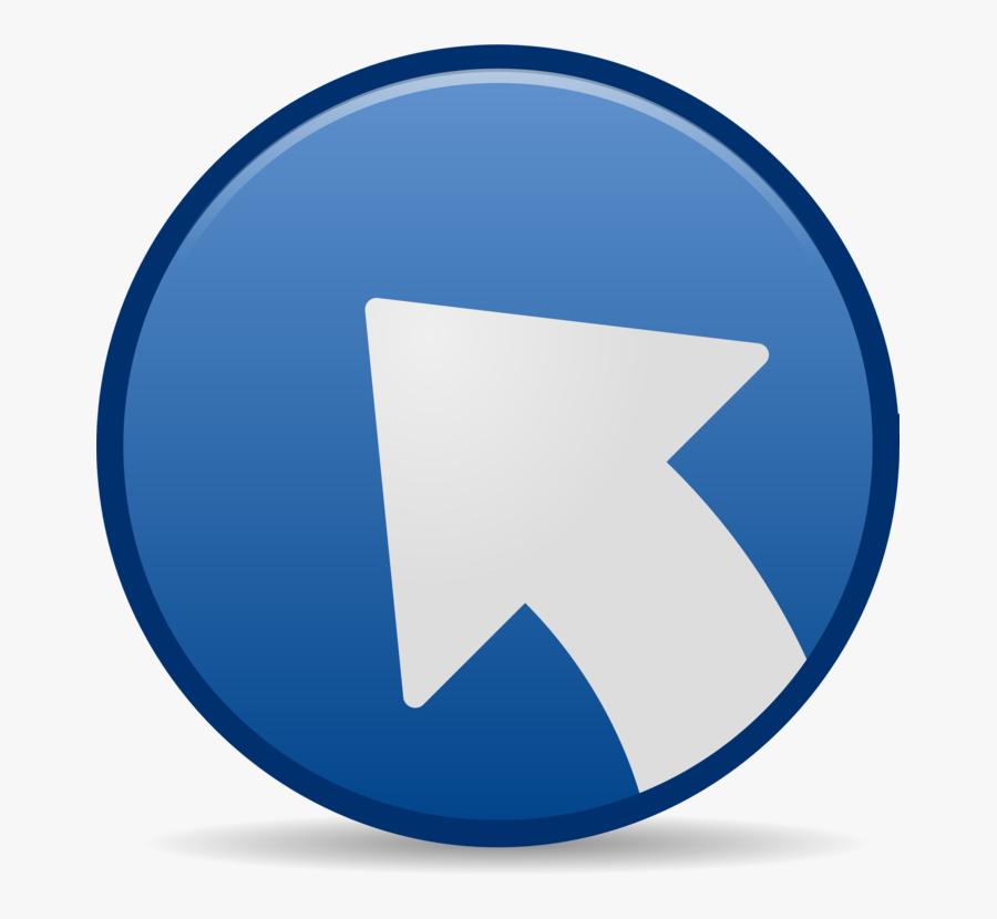 Blue,angle,symbol - Symbolic Link Icon, Transparent Clipart