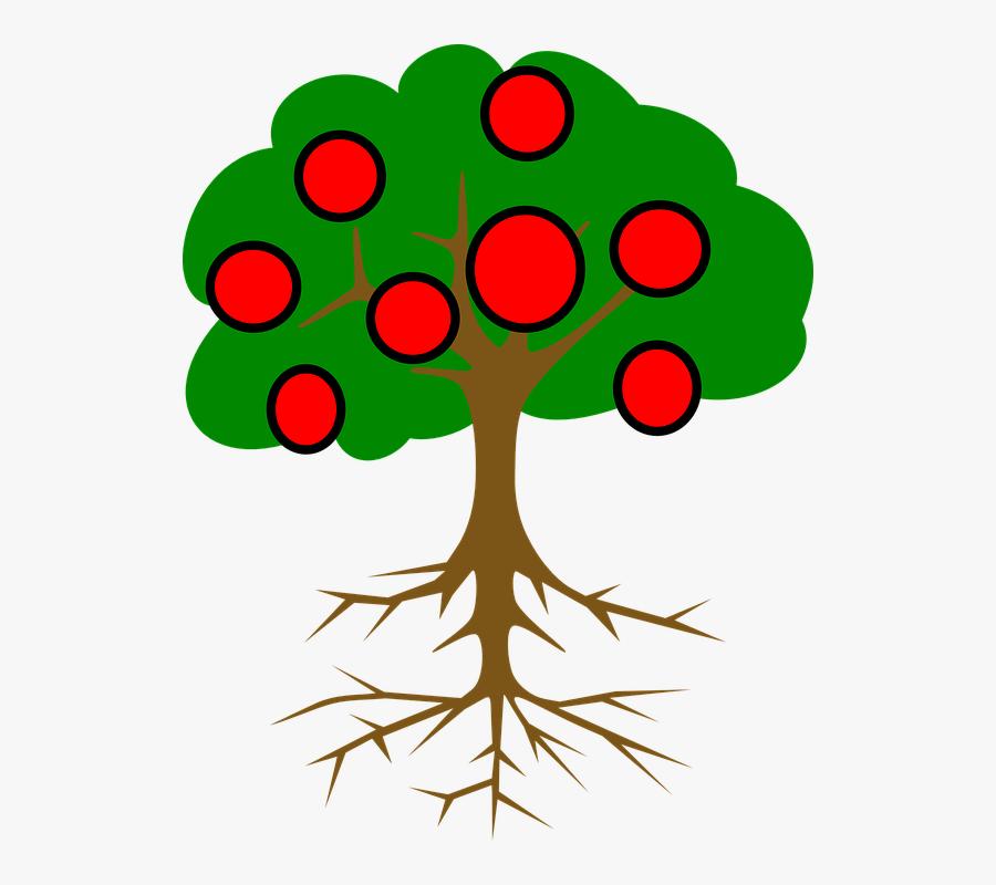 Apple Tree Clipart 2, Buy Clip Art - Tree Vector Black Png, Transparent Clipart