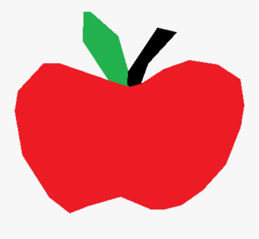 Transparent Free Clipart For Macintosh - Cartoon Apple Transparent Background, Transparent Clipart