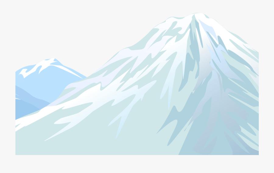 Winter Snowy Mountain Transparent Png Clip Art Image - Summit, Transparent Clipart