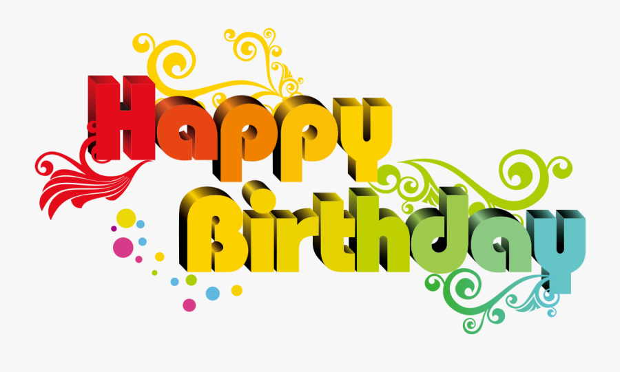 Happy Holidays Png Transparent - Happy Birthday Text Png, Transparent Clipart