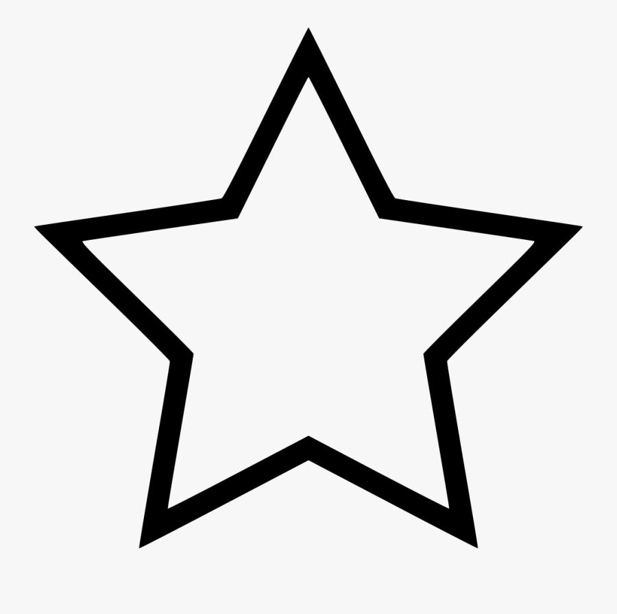 Plain Star, Transparent Clipart
