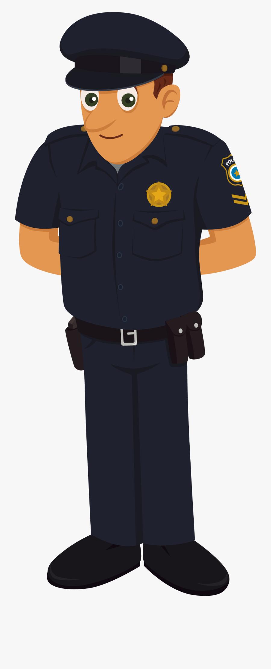 Collection Of Uniform - Indian Police Man Cartoon, Transparent Clipart