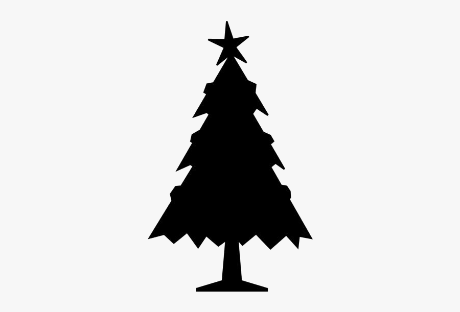 Snowy Christmas Tree Png Image Clipart - Tree Merry Christmas Drawing, Transparent Clipart