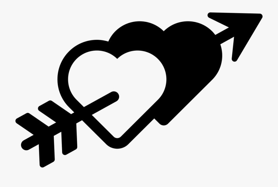 Hearts And Arrow Comments - Heart Arrow Icon Png Transparent, Transparent Clipart