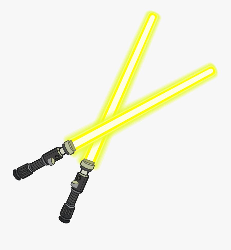 Lightsaber Luke Skywalker Qui-gon Jinn Anakin Skywalker - Sables De Luz Club Penguin, Transparent Clipart