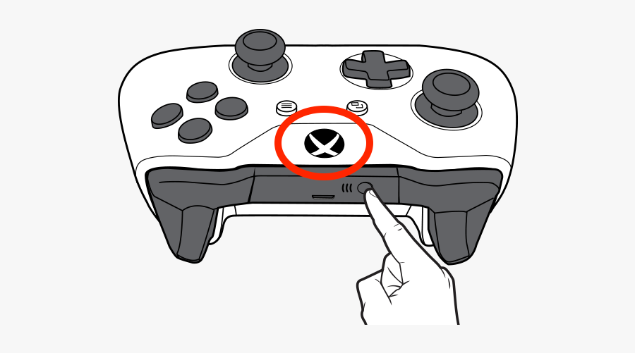 Pairing An Xbox Controller - Xbox One S Controller Charger, Transparent Clipart
