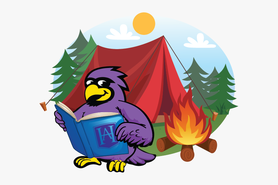 Picture - Camping Camping Tent Campfire Cartoon, Transparent Clipart