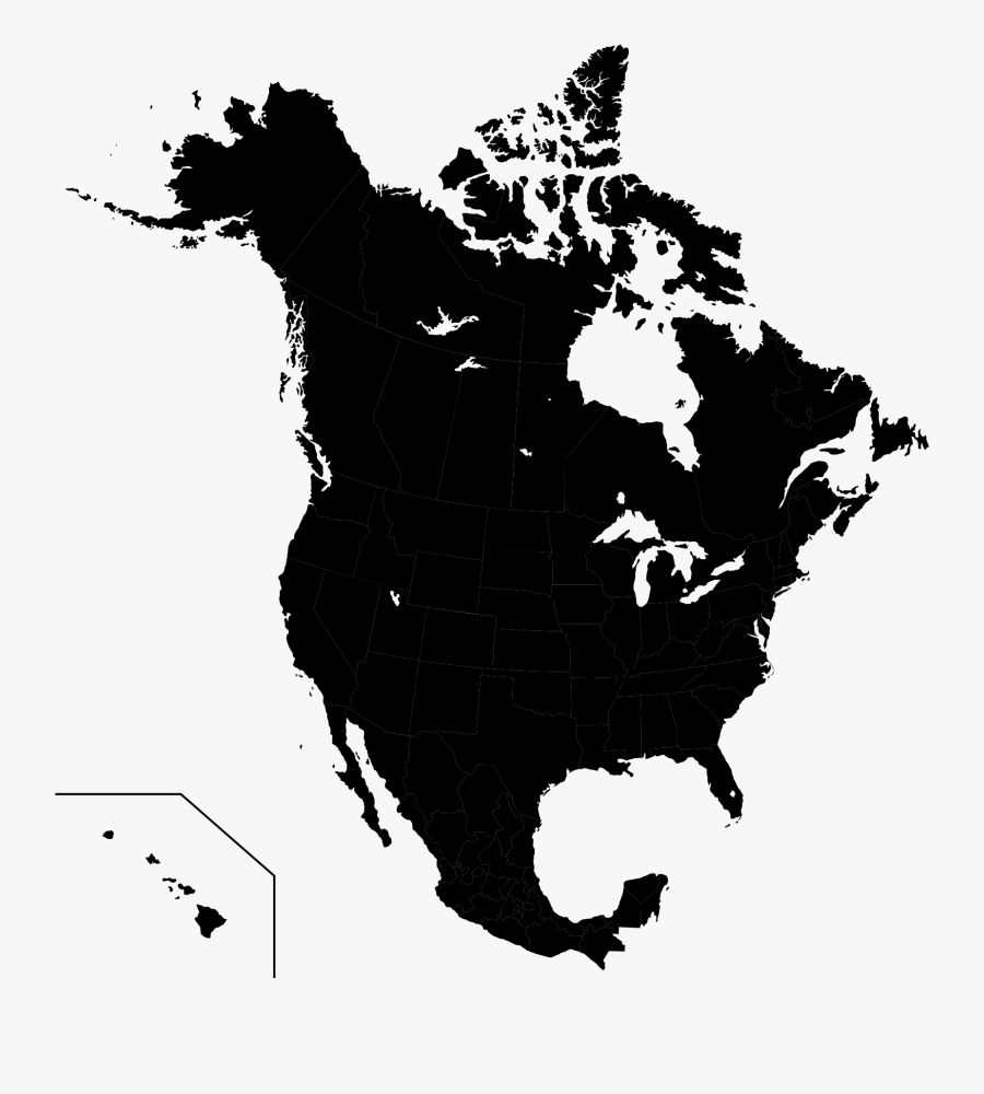America Svg Map - Coldest States In Canada, Transparent Clipart