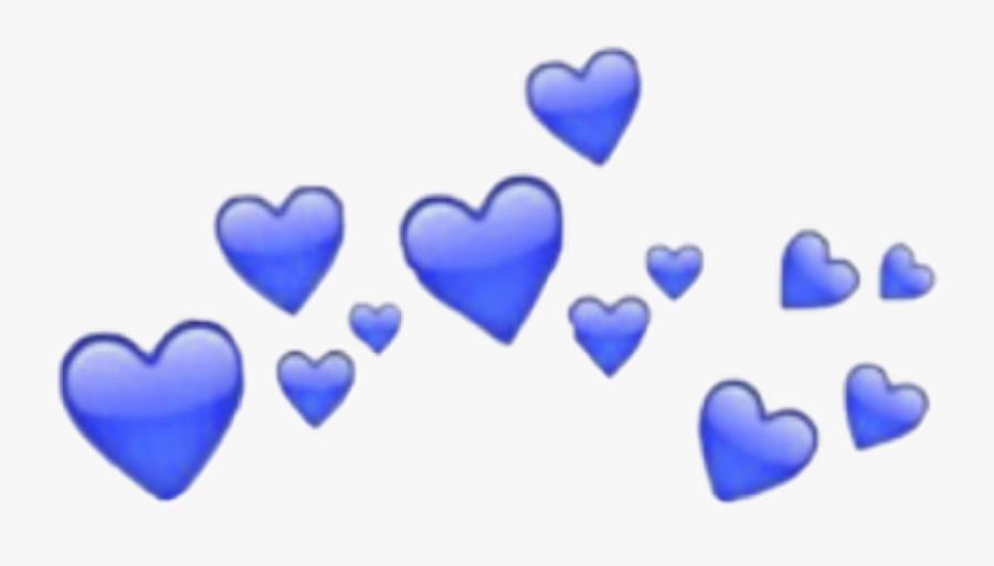 Blau Blow Art Heart Freetoedit - Transparent Iphone Heart Emoji, Transparent Clipart