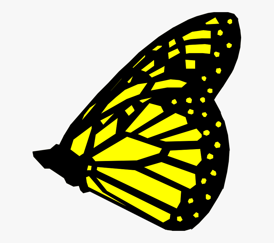 Butterfly Wings Clip Art - Yellow Butterfly Wings Clipart, Transparent Clipart