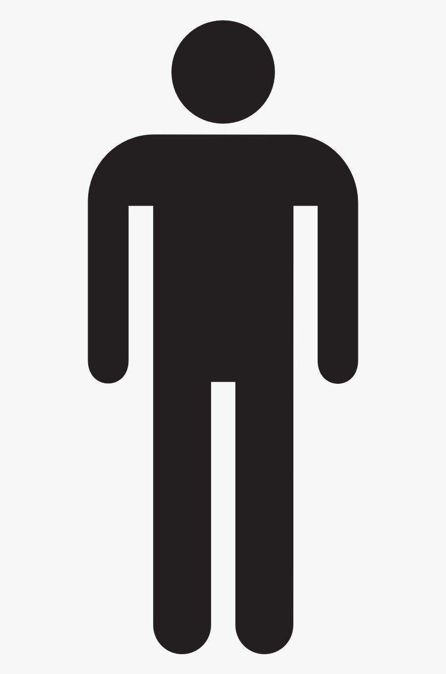 Male Man Stick Figure Symbol Png Image - Man Stick Figure Transparent, Transparent Clipart