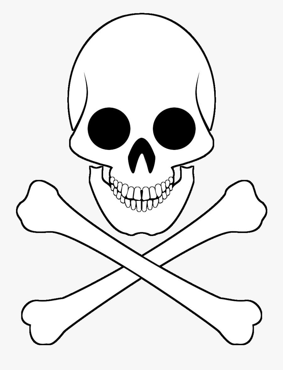 Transparent Scull And Crossbones Clipart - Skull And Bones Pirate Flag, Transparent Clipart